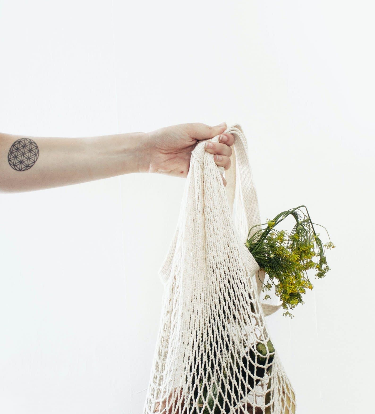 Bolsa para compra sin plástico