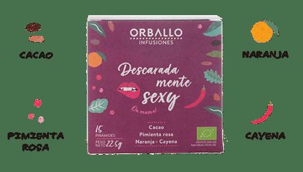 Infusión de cacao y naranja ecológica
