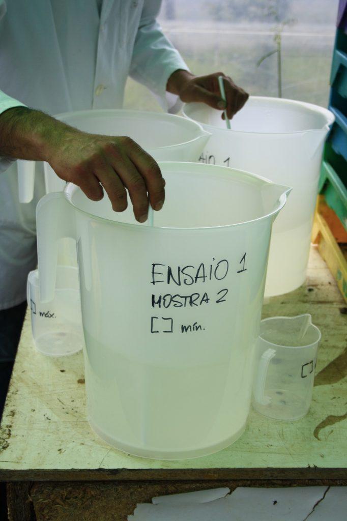 Muestra de análisis tierra para el cultivo ecológico Orballo